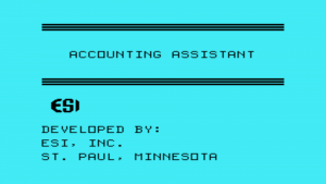 Accounting Assistant Title Screen
