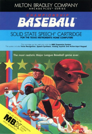 Front Cover of Championship Baseball Manual