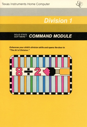 Division 1 Manual Cover