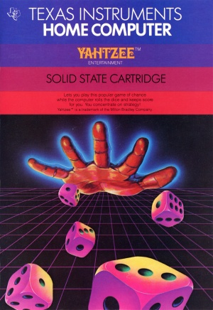 Yahtzee Manual Cover